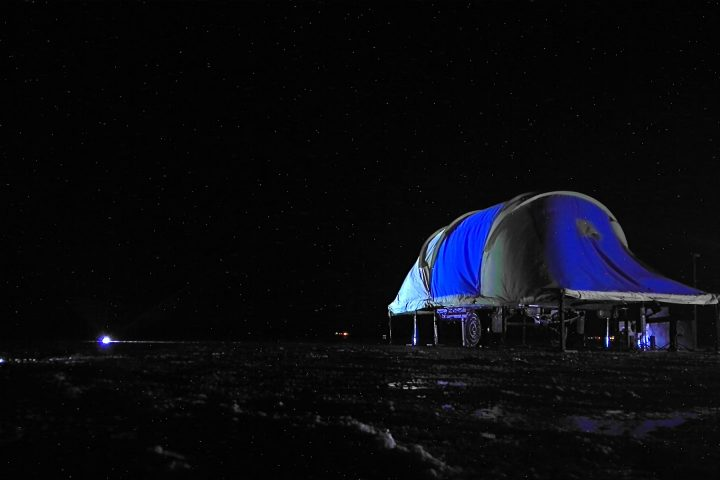 Camp in stars
